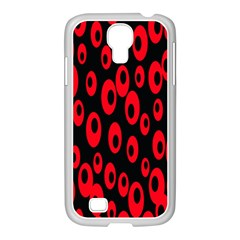 Scatter Shapes Large Circle Black Red Plaid Triangle Samsung Galaxy S4 I9500/ I9505 Case (white)
