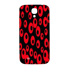 Scatter Shapes Large Circle Black Red Plaid Triangle Samsung Galaxy S4 I9500/i9505  Hardshell Back Case
