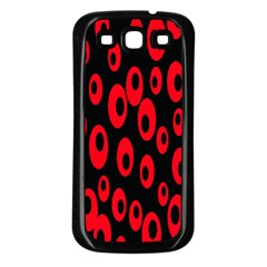 Scatter Shapes Large Circle Black Red Plaid Triangle Samsung Galaxy S3 Back Case (black) by Alisyart