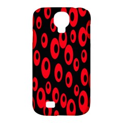 Scatter Shapes Large Circle Black Red Plaid Triangle Samsung Galaxy S4 Classic Hardshell Case (pc+silicone) by Alisyart