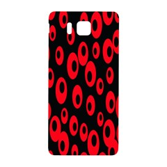 Scatter Shapes Large Circle Black Red Plaid Triangle Samsung Galaxy Alpha Hardshell Back Case