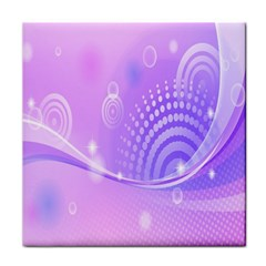 Purple Circle Line Light Tile Coasters