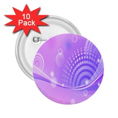Purple Circle Line Light 2 25  Buttons (10 Pack)  by Alisyart