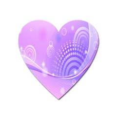 Purple Circle Line Light Heart Magnet by Alisyart