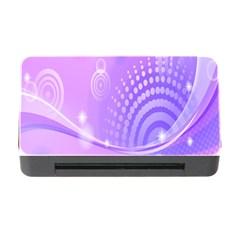 Purple Circle Line Light Memory Card Reader With Cf by Alisyart