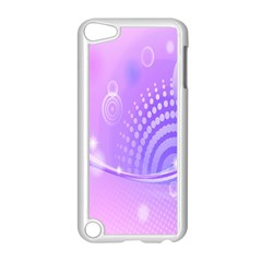 Purple Circle Line Light Apple Ipod Touch 5 Case (white) by Alisyart