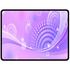 Purple Circle Line Light Double Sided Fleece Blanket (large)  by Alisyart