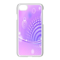 Purple Circle Line Light Apple Iphone 7 Seamless Case (white) by Alisyart