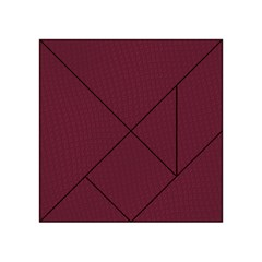 Camouflage Seamless Texture Maps Red Beret Cloth Acrylic Tangram Puzzle (4  X 4 ) by Alisyart