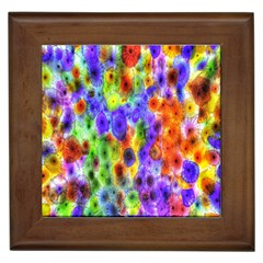 Green Jellyfish Yellow Pink Red Blue Rainbow Sea Purple Framed Tiles by Alisyart