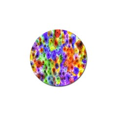 Green Jellyfish Yellow Pink Red Blue Rainbow Sea Purple Golf Ball Marker (4 Pack) by Alisyart