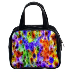 Green Jellyfish Yellow Pink Red Blue Rainbow Sea Purple Classic Handbags (2 Sides) by Alisyart