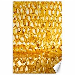 Honeycomb Fine Honey Yellow Sweet Canvas 20  X 30   by Alisyart
