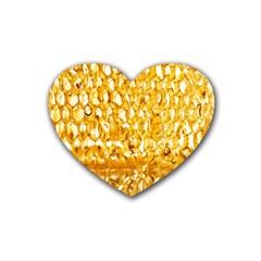 Honeycomb Fine Honey Yellow Sweet Heart Coaster (4 Pack)  by Alisyart