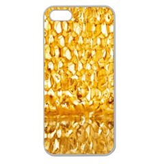 Honeycomb Fine Honey Yellow Sweet Apple Seamless Iphone 5 Case (clear) by Alisyart