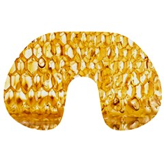 Honeycomb Fine Honey Yellow Sweet Travel Neck Pillows by Alisyart