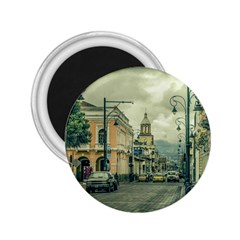 Historic Center Urban Scene At Riobamba City, Ecuador 2 25  Magnets by dflcprints