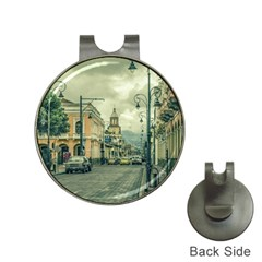 Historic Center Urban Scene At Riobamba City, Ecuador Hat Clips With Golf Markers by dflcprints