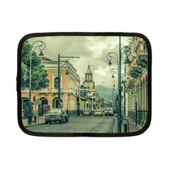 Historic Center Urban Scene At Riobamba City, Ecuador Netbook Case (small)  by dflcprints