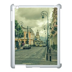 Historic Center Urban Scene At Riobamba City, Ecuador Apple Ipad 3/4 Case (white) by dflcprints