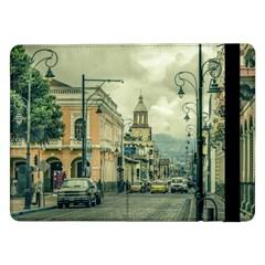 Historic Center Urban Scene At Riobamba City, Ecuador Samsung Galaxy Tab Pro 12 2  Flip Case by dflcprints