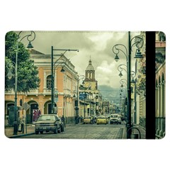 Historic Center Urban Scene At Riobamba City, Ecuador Ipad Air Flip by dflcprints