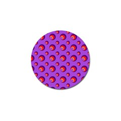 Scatter Shapes Large Circle Red Orange Yellow Circles Bright Golf Ball Marker (10 Pack) by Alisyart