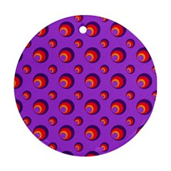 Scatter Shapes Large Circle Red Orange Yellow Circles Bright Round Ornament (two Sides) by Alisyart