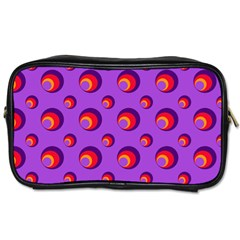 Scatter Shapes Large Circle Red Orange Yellow Circles Bright Toiletries Bags 2 Side by Alisyart