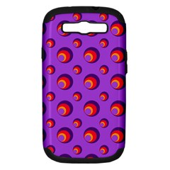 Scatter Shapes Large Circle Red Orange Yellow Circles Bright Samsung Galaxy S Iii Hardshell Case (pc+silicone)