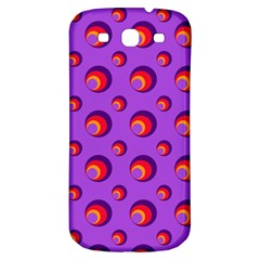 Scatter Shapes Large Circle Red Orange Yellow Circles Bright Samsung Galaxy S3 S Iii Classic Hardshell Back Case