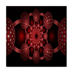 Lines Circles Red Shadow Tile Coasters