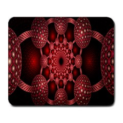 Lines Circles Red Shadow Large Mousepads by Alisyart