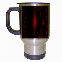 Lines Circles Red Shadow Travel Mug (silver Gray) by Alisyart