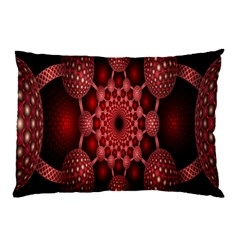 Lines Circles Red Shadow Pillow Case by Alisyart