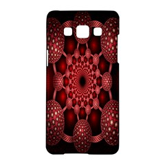 Lines Circles Red Shadow Samsung Galaxy A5 Hardshell Case  by Alisyart