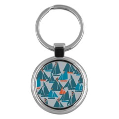 Ship Sea Blue Key Chains (round)  by Alisyart