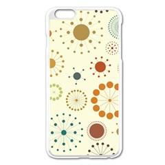 Seamless Floral Flower Orange Red Green Blue Circle Apple Iphone 6 Plus/6s Plus Enamel White Case by Alisyart