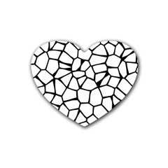 Seamless Cobblestone Texture Specular Opengameart Black White Heart Coaster (4 Pack)  by Alisyart
