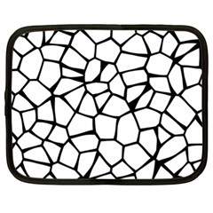 Seamless Cobblestone Texture Specular Opengameart Black White Netbook Case (xl)  by Alisyart