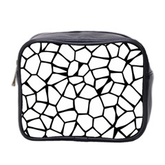 Seamless Cobblestone Texture Specular Opengameart Black White Mini Toiletries Bag 2 Side by Alisyart