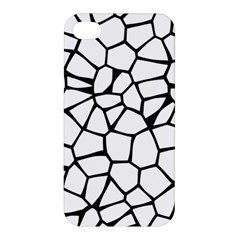 Seamless Cobblestone Texture Specular Opengameart Black White Apple Iphone 4/4s Hardshell Case by Alisyart