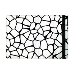 Seamless Cobblestone Texture Specular Opengameart Black White Apple Ipad Mini Flip Case by Alisyart