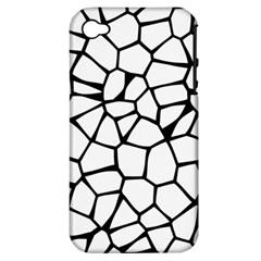 Seamless Cobblestone Texture Specular Opengameart Black White Apple Iphone 4/4s Hardshell Case (pc+silicone) by Alisyart