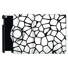 Seamless Cobblestone Texture Specular Opengameart Black White Apple Ipad 3/4 Flip 360 Case by Alisyart