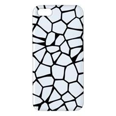 Seamless Cobblestone Texture Specular Opengameart Black White Apple Iphone 5 Premium Hardshell Case by Alisyart