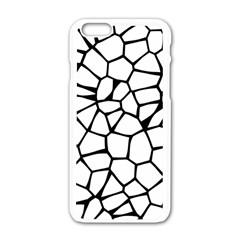 Seamless Cobblestone Texture Specular Opengameart Black White Apple Iphone 6/6s White Enamel Case by Alisyart