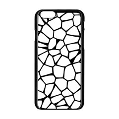Seamless Cobblestone Texture Specular Opengameart Black White Apple Iphone 6/6s Black Enamel Case by Alisyart