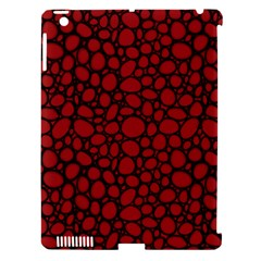 Tile Circles Large Red Stone Apple Ipad 3/4 Hardshell Case (compatible With Smart Cover) by Alisyart