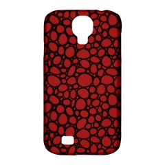Tile Circles Large Red Stone Samsung Galaxy S4 Classic Hardshell Case (pc+silicone) by Alisyart